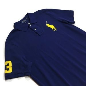 Polo Ralph Lauren Navy Blue Rugby Shirt Pony Logo